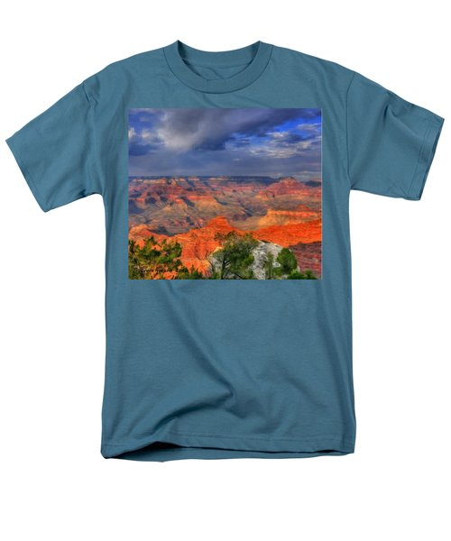 Men's T-Shirt  (Regular Fit) featuring the painting Beautiful Canyon by Bruce Nutting