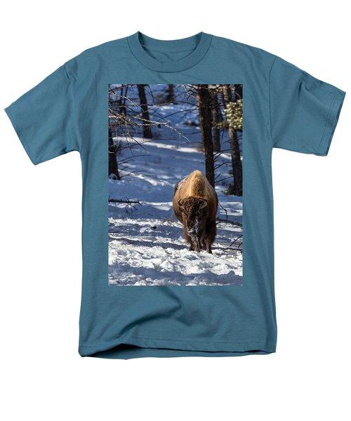 Bison In Winter Men's T-Shirt  (Regular Fit)
