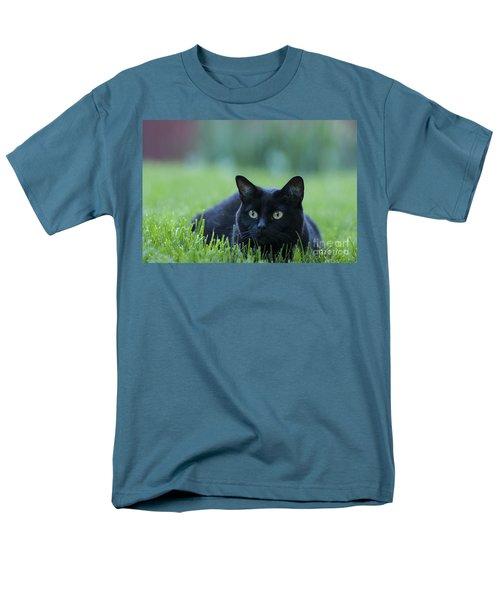 Black Cat Men's T-Shirt  (Regular Fit) by Juli Scalzi