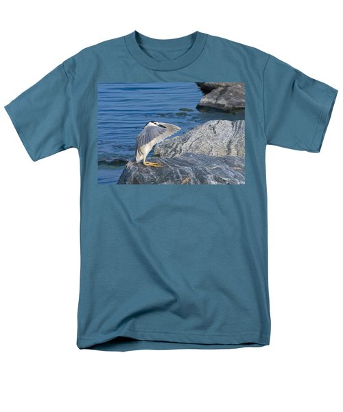 Men's T-Shirt  (Regular Fit) featuring the photograph Black Crowned Night Heron by Greg Graham