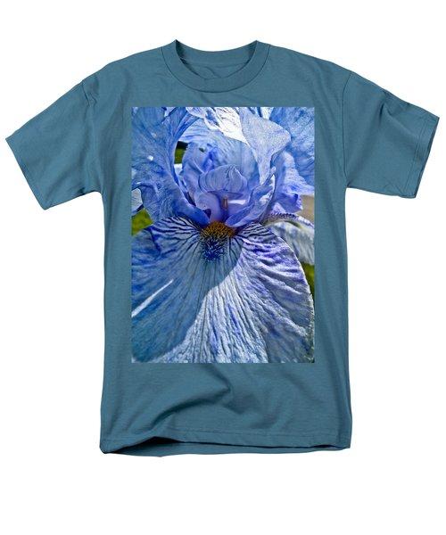 Men's T-Shirt  (Regular Fit) featuring the photograph Blue Bearded Iris by Joann Copeland-Paul