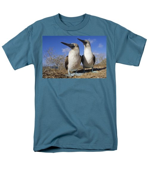 Blue-footed Booby Courting Couple Men's T-Shirt  (Regular Fit) by Tui De Roy
