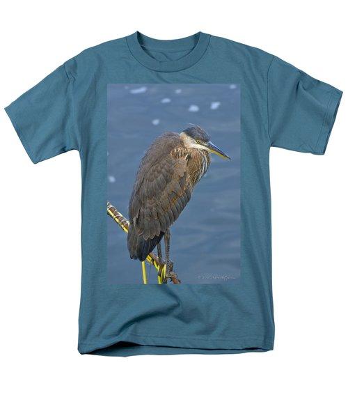 Blue Herron Men's T-Shirt  (Regular Fit) by Jim Thompson