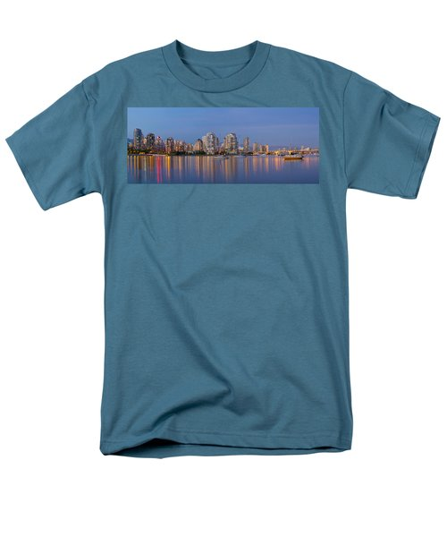 Men's T-Shirt  (Regular Fit) featuring the photograph Blue Hour At False Creek Vancouver Bc Canada by JPLDesigns