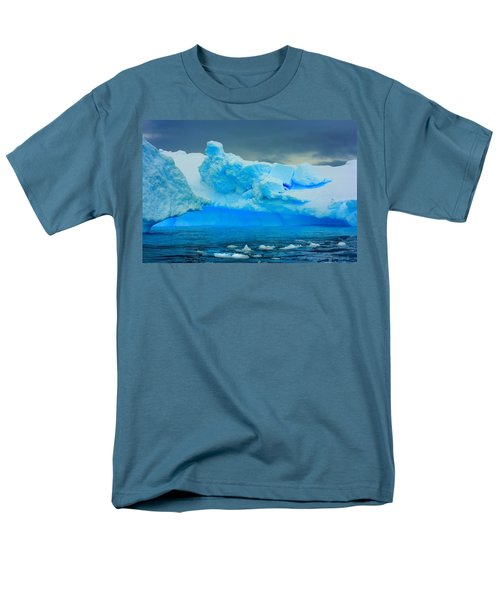 Men's T-Shirt  (Regular Fit) featuring the photograph Blue Icebergs by Amanda Stadther