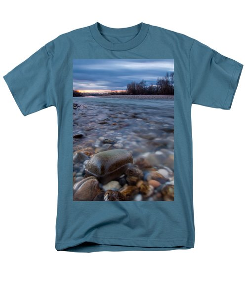Men's T-Shirt  (Regular Fit) featuring the photograph Blue Morning by Davorin Mance
