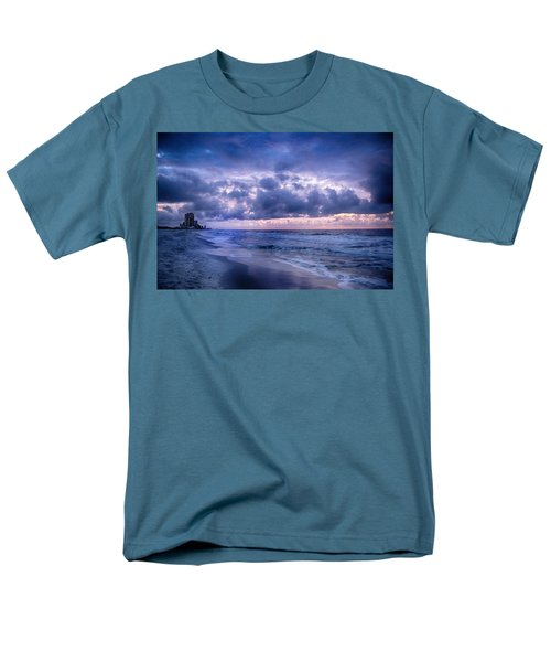 Men's T-Shirt  (Regular Fit) featuring the digital art Blue Orange Beach by Michael Thomas