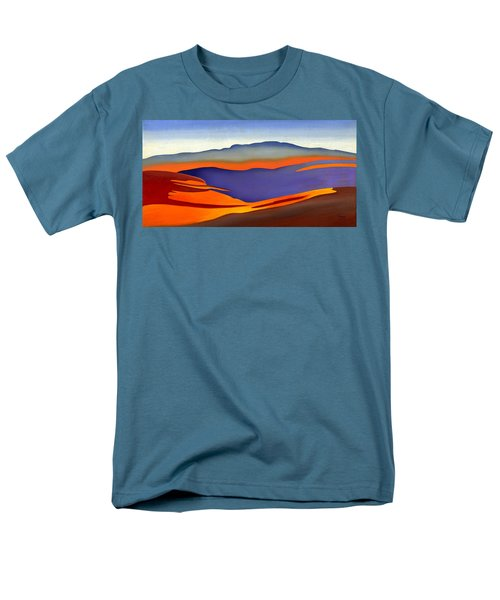 Blue Ridge Mountains East Fall Art Abstract Men's T-Shirt  (Regular Fit) by Catherine Twomey