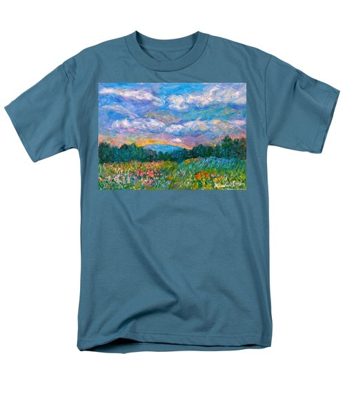 Blue Ridge Wildflowers Men's T-Shirt  (Regular Fit) by Kendall Kessler