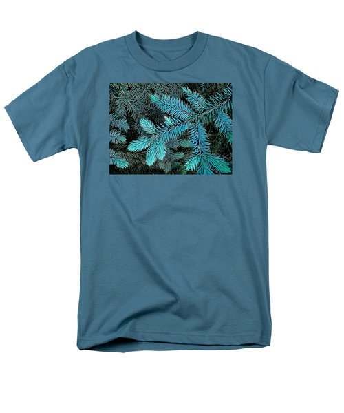 Men's T-Shirt  (Regular Fit) featuring the photograph Blue Spruce by Daniel Thompson