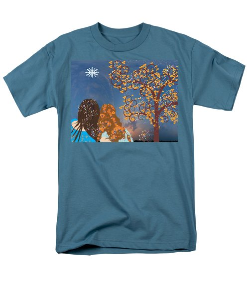 Men's T-Shirt  (Regular Fit) featuring the digital art Blue Swirl Girls 2 by Kim Prowse
