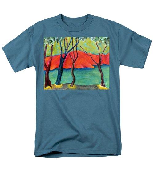 Blue Tree 2 Men's T-Shirt  (Regular Fit) by Elizabeth Fontaine-Barr