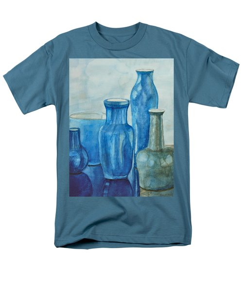 Blue Vases I Men's T-Shirt  (Regular Fit)