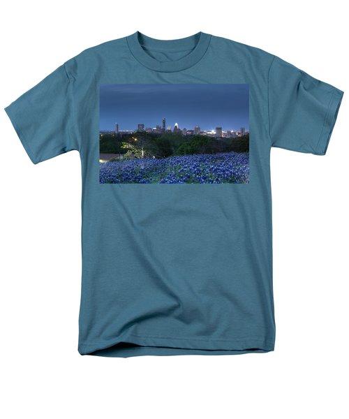 Bluebonnet Twilight Men's T-Shirt  (Regular Fit) by Dave Files