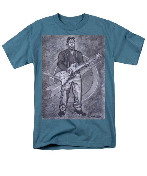 Bo Diddley - Have Guitar Will Travel Men's T-Shirt  (Regular Fit) by Sean Connolly