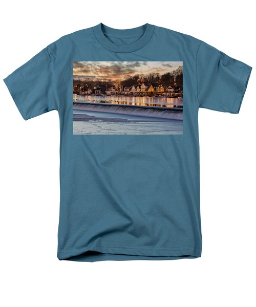 Boathouse Row Philadelphia Pa Men's T-Shirt  (Regular Fit) by Susan Candelario