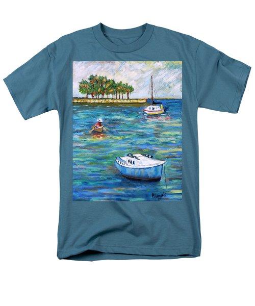 Boats At St Petersburg Men's T-Shirt  (Regular Fit) by Michael Daniels