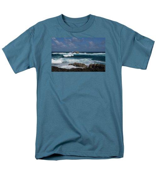 Boiling The Ocean At Laie Point - North Shore - Oahu - Hawaii Men's T-Shirt  (Regular Fit) by Georgia Mizuleva