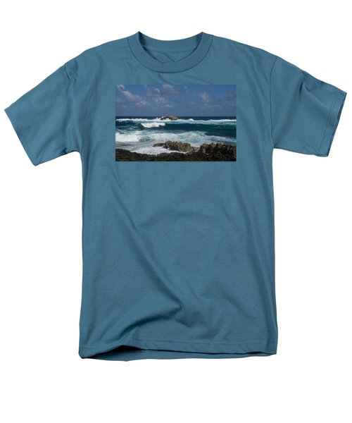 Boiling The Ocean At Laie Point - North Shore - Oahu - Hawaii Men's T-Shirt  (Regular Fit)