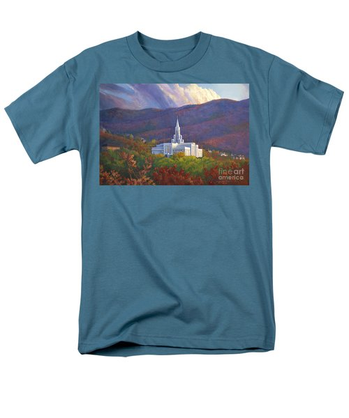 Bountiful Temple In The Mountains Men's T-Shirt  (Regular Fit) by Rob Corsetti