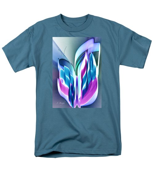 Men's T-Shirt  (Regular Fit) featuring the digital art Butterfly Abstract 3 by Frank Bright