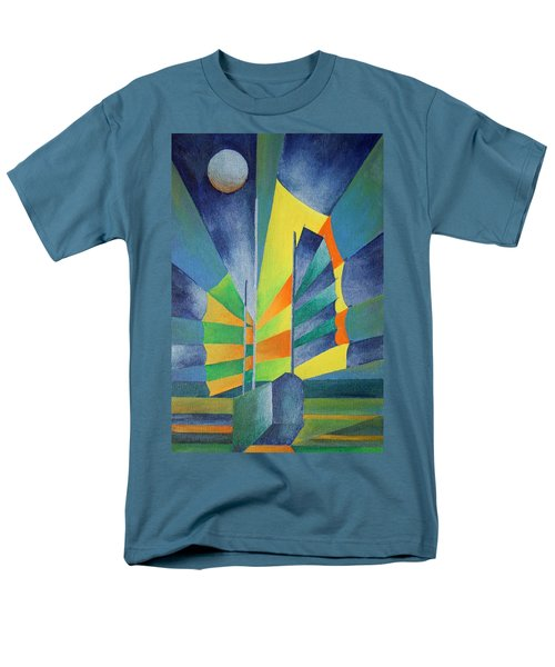 Men's T-Shirt  (Regular Fit) featuring the painting By The Light Of The Silvery Moon by Tracey Harrington-Simpson