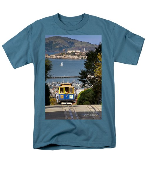 Cable Car In San Francisco Men's T-Shirt  (Regular Fit) by Brian Jannsen