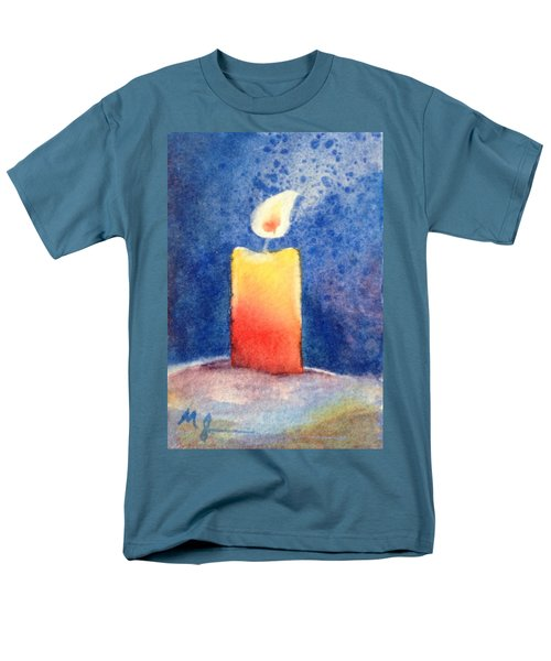 Candle Glow Men's T-Shirt  (Regular Fit) by Marilyn Jacobson