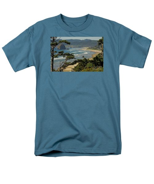Men's T-Shirt  (Regular Fit) featuring the photograph Cannon Beach Seascape by Nick  Boren