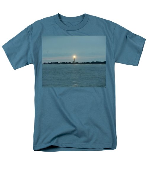 Cape May Beacon Men's T-Shirt  (Regular Fit) by Ed Sweeney