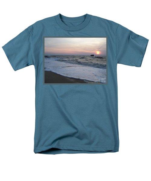 Cape May Sunset Beach Nj Men's T-Shirt  (Regular Fit) by Eric  Schiabor