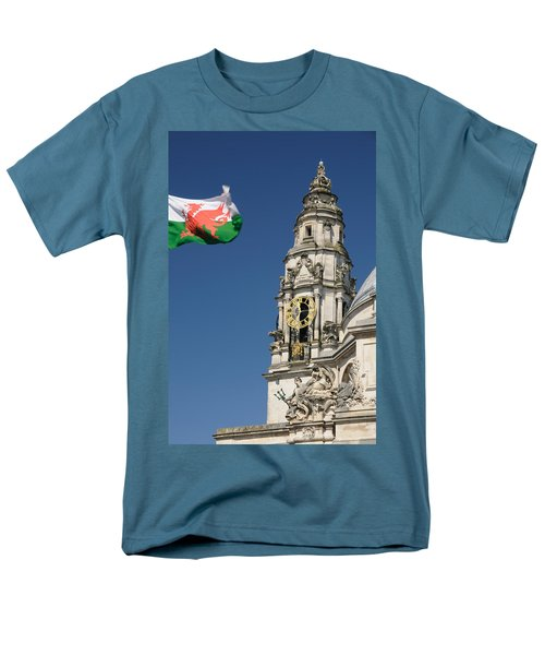 Men's T-Shirt  (Regular Fit) featuring the photograph Cardiff City Hall by Jeremy Voisey