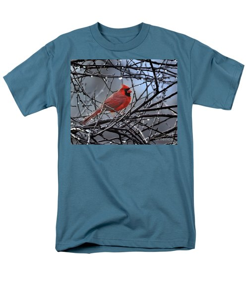 Cardinal In The Rain   Men's T-Shirt  (Regular Fit) by Nava Thompson