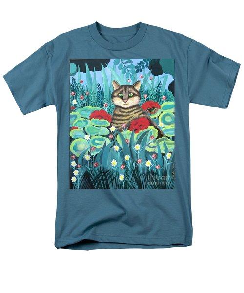 Cat Hiding In The Rainforest Men's T-Shirt  (Regular Fit)
