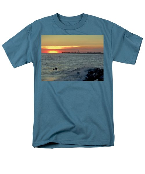 Catching A Wave At Sunset Men's T-Shirt  (Regular Fit) by Ed Sweeney