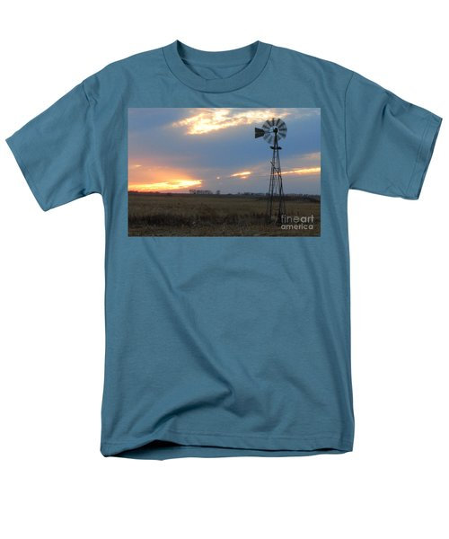Catching The Wind In South Dakota Men's T-Shirt  (Regular Fit) by Mary Carol Story