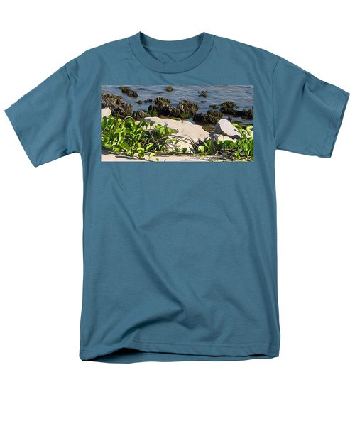 Men's T-Shirt  (Regular Fit) featuring the painting Causeway Shore Blues by Ecinja