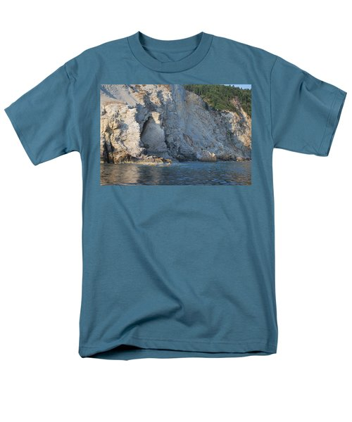 Men's T-Shirt  (Regular Fit) featuring the photograph Cave By The Sea by George Katechis