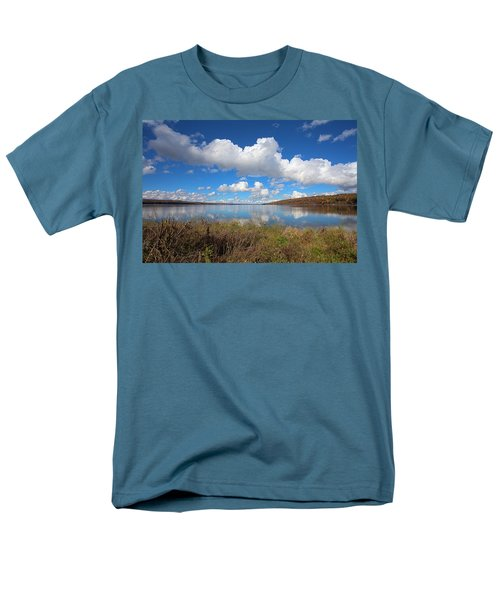 Men's T-Shirt  (Regular Fit) featuring the photograph Cayuga Lake In Colorful Fall Ithaca New York II by Paul Ge