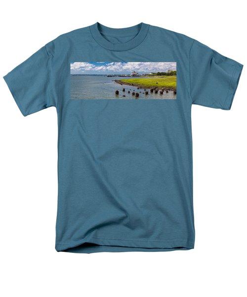 Men's T-Shirt  (Regular Fit) featuring the photograph Charleston Harbor by Sennie Pierson