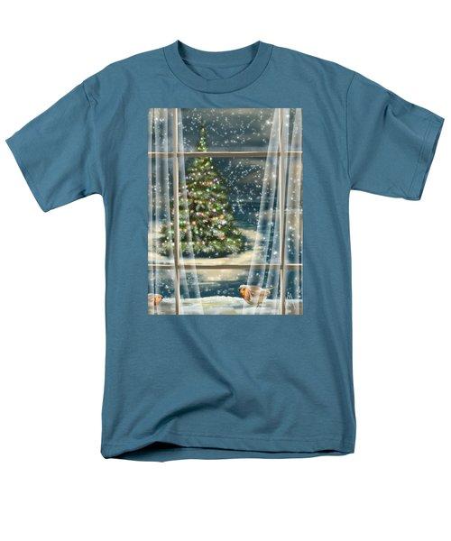 Christmas Night Men's T-Shirt  (Regular Fit) by Veronica Minozzi