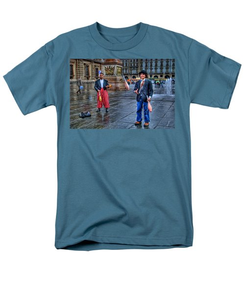 Men's T-Shirt  (Regular Fit) featuring the photograph City Jugglers by Ron Shoshani