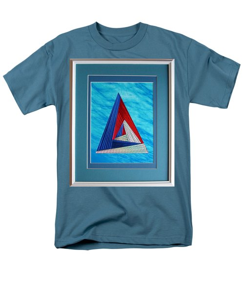Men's T-Shirt  (Regular Fit) featuring the mixed media Close Encounter by Ron Davidson