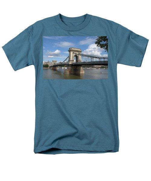 Clouds Sky Water And Bridge Men's T-Shirt  (Regular Fit) by Caroline Stella