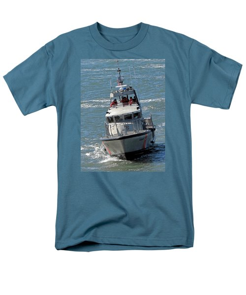 Men's T-Shirt  (Regular Fit) featuring the photograph Coast Guard At Depot Bay by Chris Anderson