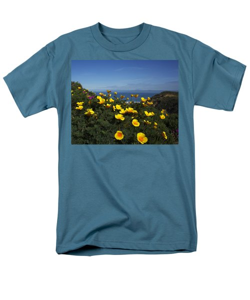 Men's T-Shirt  (Regular Fit) featuring the photograph Coastal California Poppies by Susan Rovira