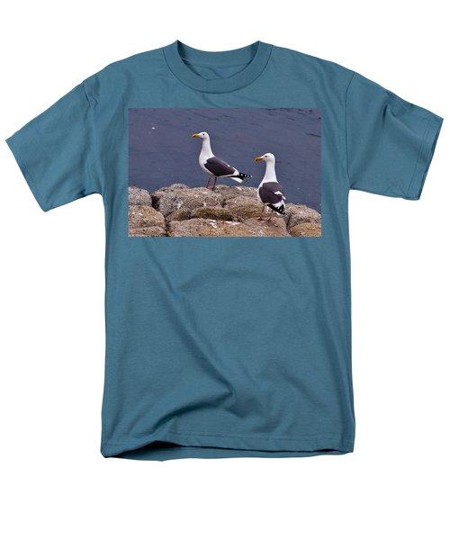 Coastal Seagulls Men's T-Shirt  (Regular Fit) by Melinda Ledsome