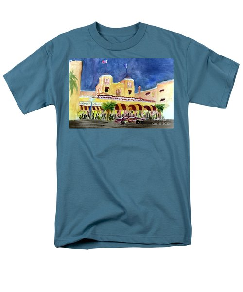 Colony Hotel In Delray Beach Men's T-Shirt  (Regular Fit) by Donna Walsh