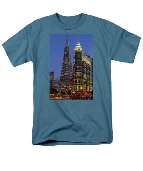 Columbus And Transamerica Buildings Men's T-Shirt  (Regular Fit) by Jerry Fornarotto