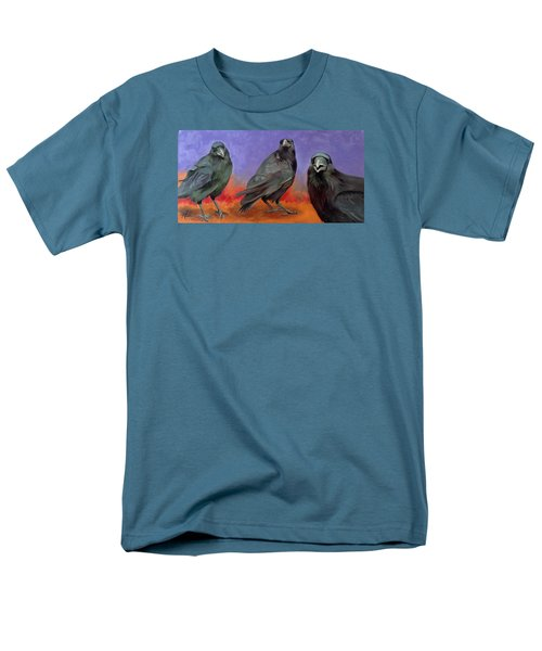 Men's T-Shirt  (Regular Fit) featuring the painting Conspiracy by Pattie Wall